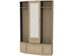Шкаф для прихожей с зеркалом 600 дуб сонома