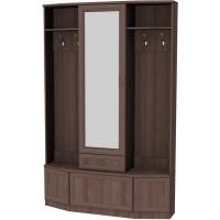 Шкаф для прихожей с зеркалом 600 ясень шимо