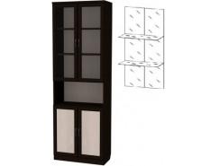 Шкаф для книг 207+С207 венге