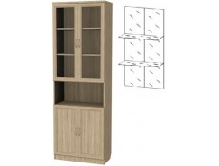 Шкаф для книг 207+С207 дуб сонома