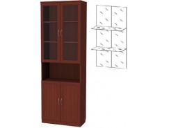 Шкаф для книг 207+С207 итальянский орех