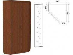 Шкаф угловой со штангой и полками 401+1 зеркало 3100 дуб