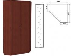 Шкаф угловой со штангой и полками 401+1 зеркало 3100 итальянский орех