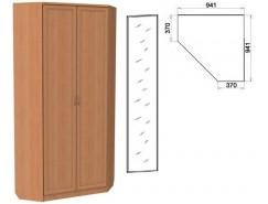 Шкаф угловой со штангой и полками 401+1 зеркало 3100 ольха