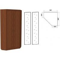 Шкаф угловой со штангой и полками 401+2 зеркала 3100 дуб
