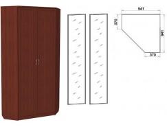 Шкаф угловой со штангой и полками 401+2 зеркала 3100 итальянский орех