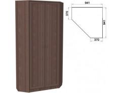 Шкаф угловой со штангой и полками 401 ясень шимо