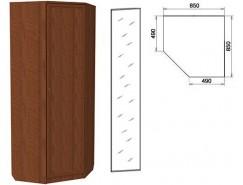 Шкаф угловой со штангой и полками 400+зеркало 3400 дуб