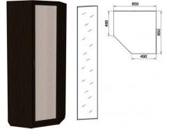 Шкаф угловой со штангой и полками 400+зеркало 3400 венге