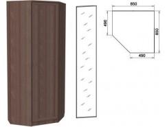 Шкаф угловой со штангой и полками 400+зеркало 3400 ясень шимо