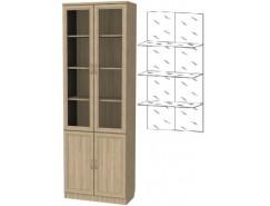 Шкаф для книг 206+С206 дуб сонома