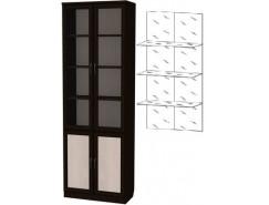 Шкаф для книг 206+С206 венге
