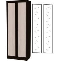 Шкаф для белья со штангой и полками 101+2 зеркала 3100 венге