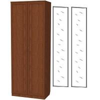 Шкаф для белья со штангой и полками 101+2 зеркала 3100 дуб
