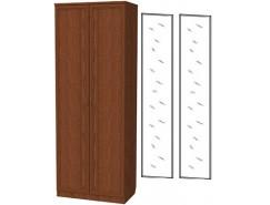 Шкаф для белья со штангой 100+2 зеркала 3100 дуб