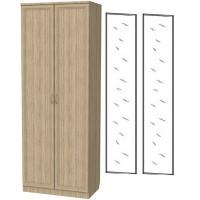 Шкаф для белья со штангой и полками 101+2 зеркала 3100 дуб сонома