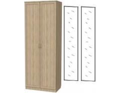 Шкаф для белья со штангой 100+2 зеркала 3100 дуб сонома