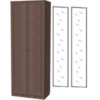 Шкаф для белья со штангой и полками 101+2 зеркала 3100 ясень шимо
