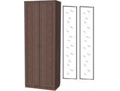 Шкаф для белья со штангой 100+2 зеркала 3100 ясень шимо