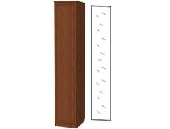 Шкаф для белья со штангой и полками 105+зеркало 3100 дуб