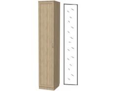 Шкаф для белья со штангой и полками 105+зеркало 3100 дуб сонома