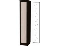 Шкаф для белья со штангой и полками 105+зеркало 3100 венге