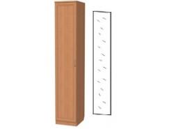 Шкаф для белья со штангой и полками 105+зеркало 3100 ольха