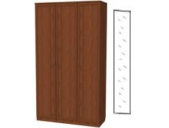 Шкаф для белья 3-х дверный 106+зеркало 3100 дуб