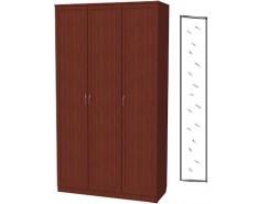 Шкаф для белья 3-х дверный 106+зеркало 3100 итальянский орех