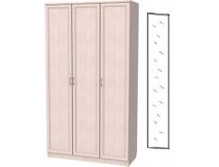 Шкаф для белья 3-х дверный 106+зеркало 3100 молочный дуб