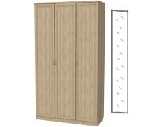 Шкаф для белья 3-х дверный 106+зеркало 3100 дуб сонома