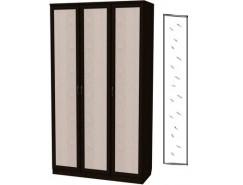 Шкаф для белья 3-х дверный 106+зеркало 3100 венге