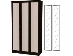 Шкаф для белья 3-х дверный 106+2 зеркала 3100 венге
