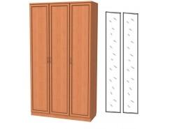 Шкаф для белья 3-х дверный 106+2 зеркала 3100 ольха