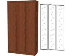 Шкаф для белья 3-х дверный 106+3 зеркала 3100 дуб
