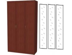 Шкаф для белья 3-х дверный 106+3 зеркала 3100 итальянский орех