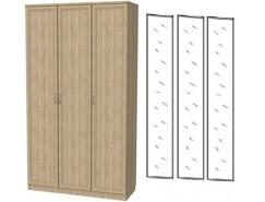 Шкаф для белья 3-х дверный 106+3 зеркала 3100 дуб сонома