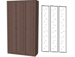 Шкаф для белья 3-х дверный 106+3 зеркала 3100 ясень шимо