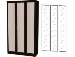 Шкаф для белья 3-х дверный 106+3 зеркала 3100 венге