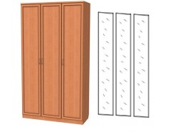 Шкаф для белья 3-х дверный 106+3 зеркала 3100 ольха