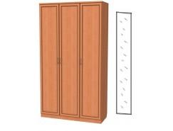 Шкаф для белья 3-х дверный 106+зеркало 3100 ольха