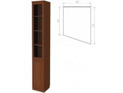 Шкаф для книг (консоль правая) 202 дуб