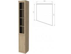 Шкаф для книг (консоль правая) 202 дуб сонома