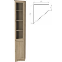 Шкаф для книг 208 дуб сонома