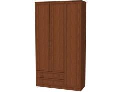 Шкаф для белья со штангой, полками и ящиками 114 дуб