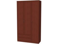 Шкаф для белья со штангой, полками и ящиками 114 итальянский орех