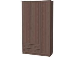 Шкаф для белья со штангой, полками и ящиками 114 ясень шимо