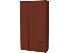 Шкаф для белья со штангой, полками и ящиками 113 итальянский орех
