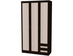 Шкаф для белья со штангой, полками и ящиками 113 венге