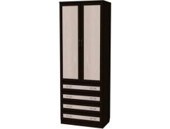 Шкаф для белья со штангой и ящиками 103 венге